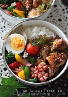 Japanese Lunch, Japanese Food, Bento Recipes, Asian Recipes, Ethnic Recipes, Bento Box Lunch, Cafe Food, Limoncello, Korean Food