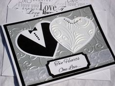 Embossed Anniversary Cards | Embossed Wedding Card, Also an Engagement, Anniversary or Bridal ...