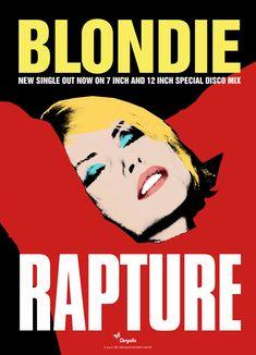Blondie - Rapture poster by David Storey | Hypergallery Album Art Prints