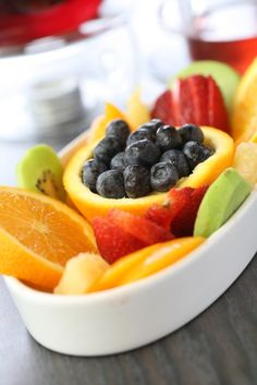 fresh fruits - Connor would LOVE this.  And I would help him love it -LOL