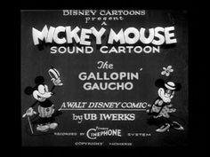 Mickey Mouse Gallopin Gaucho Walt Disney