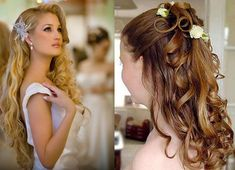 Cute Easy Hairstyles For Long Curly Hair New Omantic Wedding Hairstyles For Long Hair Curly Wedding Hair, Wedding Hair Flowers, Wedding Hairstyles For Long Hair, Long Curly Hair, Curly Hair Styles, Bridal Hairstyles, Wedding Curls, Bridesmaid Hairstyles, Latest Hairstyles