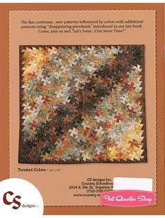 Let's Twist Again Quilt Book | Let's Twist...One More Time! Quilt Book Country Schoolhouse, Marsha ...