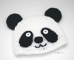 Вяжем детские шапочки крючком: схемы вязаной шапочки «Панда» на разные размеры головы (крючок 5 мм).