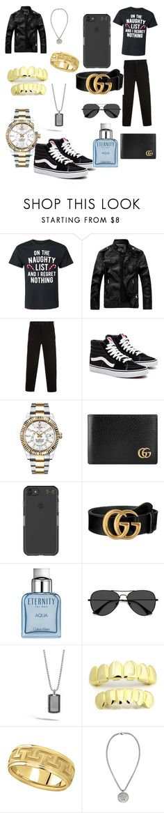 """""""Untitled #4"""" by milnerfrederick ❤ liked on Polyvore featuring Yohji Yamamoto, Rolex, Gucci, Under Armour, Calvin Klein, EyeBuyDirect.com, John Hardy, Allurez, Versace and men's fashion"""