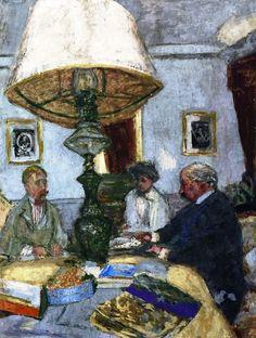 Vuilliard- Under the Large Lamp at St. Jacut, 1909