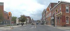 Dundas is a lovely town with a historic downtown that is lovely for an afternoon of window shopping and perhaps a great cup or coffee or tea. Dundas Ontario, My Town, Small Towns, Great Places, The Neighbourhood, Street View, Canada, Community, Hamilton