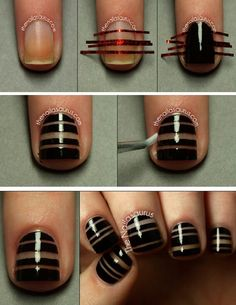 Cool! nail art with tape