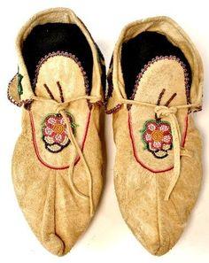 C. 1940's Ojibwa beaded moccasins