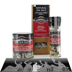 Items similar to Natural sea salt of Messolonghi with mixture of pepper. on Etsy Ancient Greek Food, Greek Recipes, Sea Salt, Herbs, Stuffed Peppers, Coffee, Natural, Unique Jewelry, Handmade Gifts