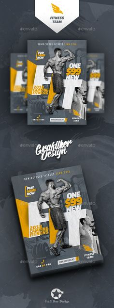 #Fitness Time #Flyer Templates - Sports Events