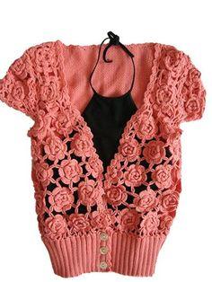 free, rose shrug crochet pattern (russian)