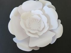 Large paper rose flower wall, custom made in any color, white giant flower wedding backdrop, baby nursery decor home decor archway foyer 10""
