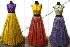 Traditional contemporary half Sarees. Every ensemble is a master piece