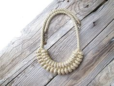 Gold Rope necklace Nautical rope necklace