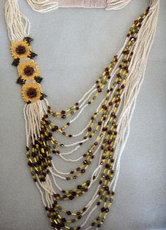 Sunflowers Side Loom Pattern Only by Bobbie C. Yoakum at Bead-Patterns.com