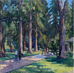Tanglewood / Before the Concert Original Oil on by wickstromstudio, $350.00