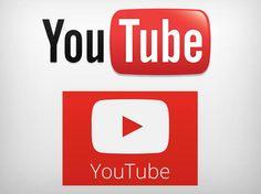 Logotipos antigo e novo do Youtube