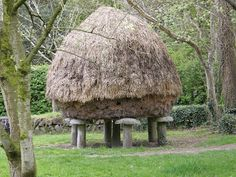 A round granary with staddle stones in Ireland
