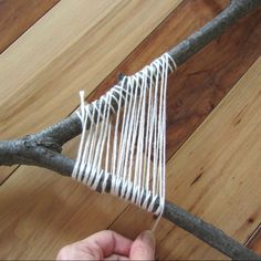 branch weaving...such a fun idea for kids while camping or in the fall.