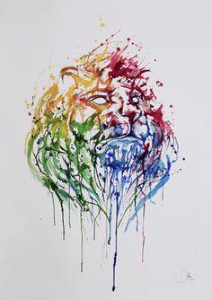Artista mezcla tecnicas de acuarela y tinta china | total creativo - blog de…