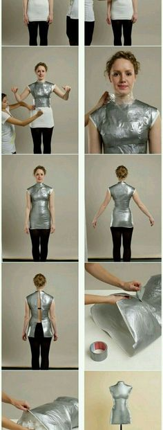DIY step by step duct tape cosplay armor - Lexx Morton - BildMy Double duct tape dress form.Image uploaded by amy. Find images and videos about moda, diy and free crafts on We Heart It - the app to get lost in what you Tutorial Cosplay, Cosplay Diy, Diy Step By Step, Diy Kleidung, Diy Couture, Halloween Disfraces, Diy Clothing, Duct Tape, Costume Design