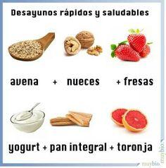 Desayunos rapidos y saludables
