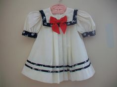 Size 2T Vintage Toddler Girl  Nautical Dress  by LittleMarin,