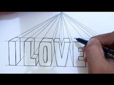 Tutorial cara membuat tulisan terlihat rapi I Dhompy Graffiti I Easy 3d Drawing, 3d Art Drawing, Drawing Tips, Easy Drawings, Alphabet Drawing, Drawing Letters, 3d Alphabet, Chalk Writing, Youtube Drawing