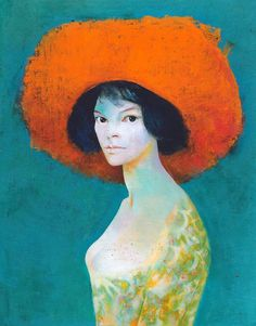 Leonor Fini, Self-Portrait with Red Hat Leonor Fini (August 30, 1907 – January 18, 1996) was an Argentine surrealist painter.
