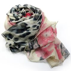 stylish floral printed scarf