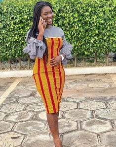 Short African Dresses, Latest African Fashion Dresses, African Print Fashion, African Wedding Attire, African Attire, African Wear, African Fashion Traditional, Lace Dress Styles, Look