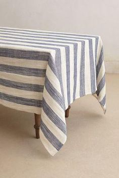 sea stripe table cloth