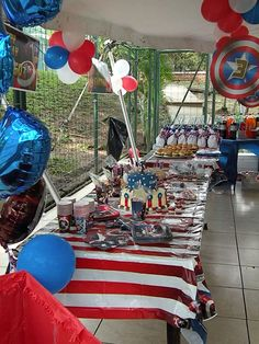 Thanks to all the pins that contributed with ideas for a Captain America Birthday party theme.