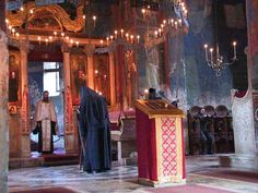 Holy Service in Decani Monastery