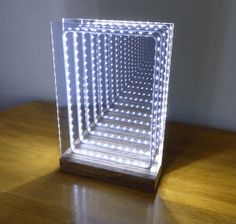 Modern Led Infinity Mirror Table Lamp : 19 Steps (with Pictures) - Instructables Infinity Lights, Lamp, Led Infinity Mirror, Beautiful Lamp, Infinity Mirror, Mirror Lamp, Mirror Table Lamp, Infinity Mirror Table, Mirror