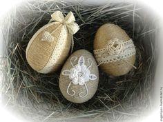 Купить Пасхальный набор №2 - бежевый, пасхальный сувенир, пасхальный подарок, пасхальное яйцо