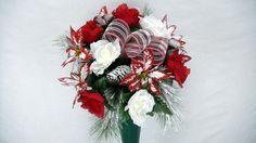 Mixed Bush Christmas Cemetery Flower Vase Bush in Everything Else, Home & Garden | eBay