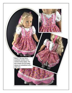Walk In The Park 18 inch Doll Clothes PDF Pattern Download | Pixie Faire