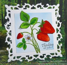 cards with strawberries pinterest | Cards Gina K Videos & Cards 2012 / Sweet Strawberries