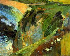 Flutist on the cliffs, 1889 Paul Gauguin