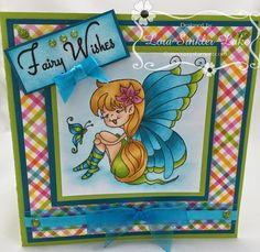"ONECRAZYSTAMPER.COM: High Hopes Sneak Peak Day #3 ""Fairy Wishes"" by Lora using High Hopes New Release ""Julie's Smile"""