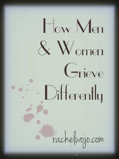How Men and Women Grieve Differently-