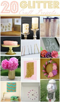 20 Glitter Craft Projects via @Danielle Lampert {at Framed Frosting}