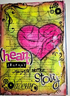 art journal: see similar technique/tutorial here: http://artangeloriginalart.blogspot.com/2010/11/mixed-media-crumpled-tissue-technique.html