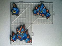 Roggenrola Family Perlers by TehMorrison on DeviantArt Perler Bead Pokemon Patterns, Hama Beads Pokemon, Pearler Beads, Papercraft Pokemon, Hama Beads Design, Melting Beads, Perler Bead Art, Beading Patterns, Pixel Art