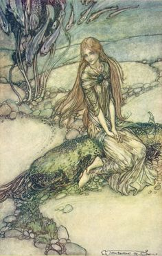 Undine is a fairy-tale novella (Erzählung) by Friedrich de la Motte Fouqué in ... Leonard Courtney and illustrated by Arthur Rackham was published in 1909.