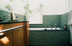 Malcolm Davis Architecture green tiled bathrrom; Remodelista