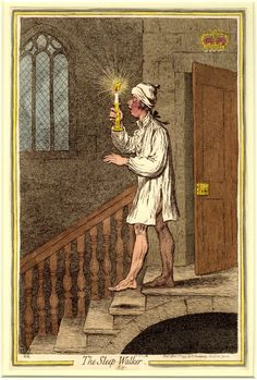 James Gillray (1757 - 1815), caricaturista y grabador británico. Sonámbulo.