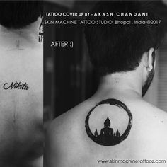 One more beautiful Cover up ❤️ With Lord Buddha ! Tattoo by Akash Chandani @the_inkmann ❤️ Client traveled all the way from Indore to get this done. Hope you guys like this too Email for bookings - skinmachineteam@gmail.com www.skinmachineteam@gmail.com